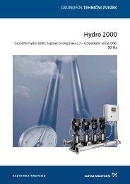GRUNDFOS tehnični zvezek: Hydro 2000, naprave za dvig