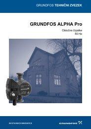 GRUNDFOS ALPHA Pro, obtočne črpalke - Ika