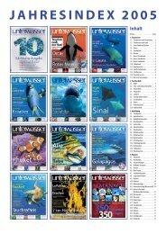 Jahresindex 2005.indd - Unterwasser
