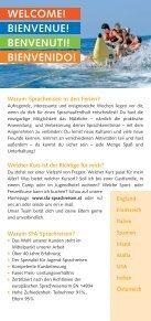 BIENVENUE! BENVENUTI! BIENVENIDO! - SFA Sprachreisen - Page 2