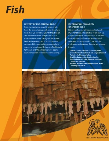 Traditional Food Facts Sheets - First Nations Health Council