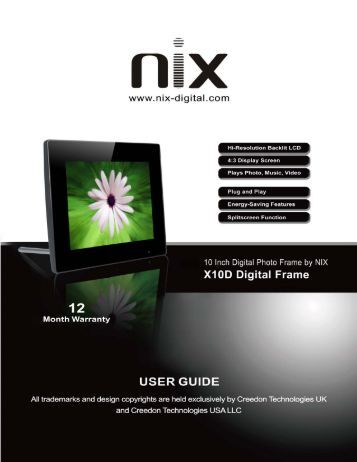 X10D User Manual-120904-v1.0.pdf - Nix Digital Frames