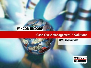 Wincor Nixdorf's E2E Cash Cycle Solutions - Comunicado