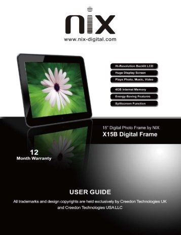 Kodak Digital Photo Frame EASYSHARE D725 User's Manual download free
