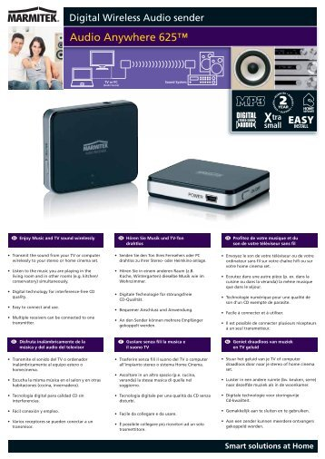 Audio Anywhere 625™ - Maison-Intelligente