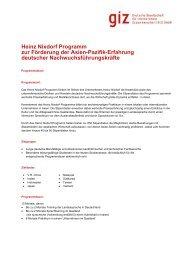 Heinz Nixdorf Programm zur Förderung der Asien-Pazifik ... - GIZ