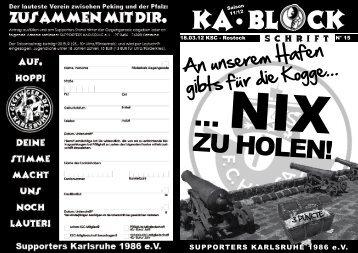 ... NIX ZU HOLEN! - Supporters Karlsruhe 1986 eV