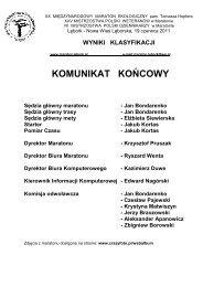 zobacz wyniki z roku 2011 - Maratony Polskie