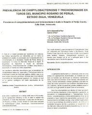 prevalencia de campylobacteriosis y trichomoniasis en toros del ...