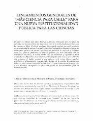 """ciencia para chile"""" para una nueva institucionalidad pública para las ..."""