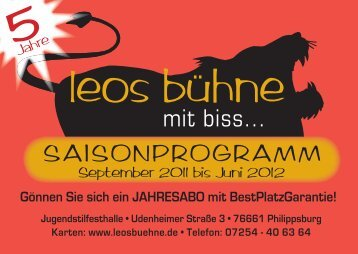 Leo Programm 2011/12 - Leos Bühne
