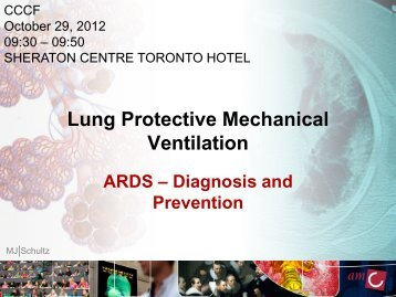 Lung Protective Mechanical Ventilation - Critical Care Canada Forum