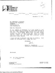 the ame$ican tobacco company - Legacy Tobacco Documents Library