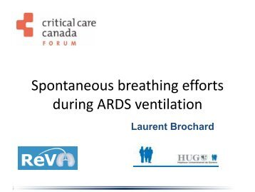 Spontaneous breathing during ARDS - Critical Care Canada Forum