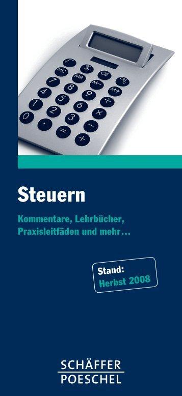 Steuern - Schäffer-Poeschel Verlag GmbH