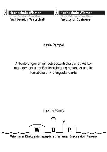 Katrin Pampel Anforderungen an ein ... - EconBiz