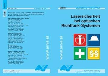 Merkblatt Lasersicherheit bei optischen Richtfunk - System M 081