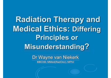 Radiation Therapy and