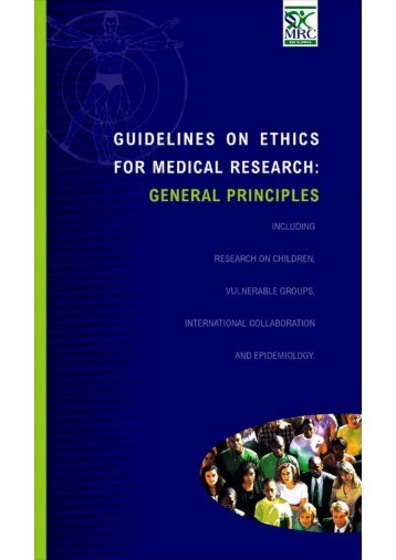 Book 1: General Principles including - SA Medical Research Council
