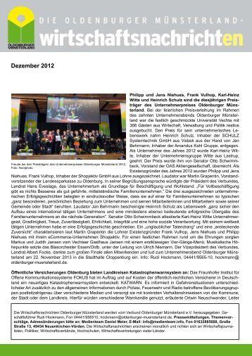 Ausgabe 12/2012 - Verbund Oldenburger Münsterland