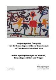 Handlungsempfehlungen - Stadt Schwäbisch Hall