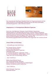 Das Internationale Oleg Kagan Musikfest Kreuth am Tegernsee ...