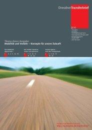 Mobilität und Verkehr - Konzepte für unsere Zukunft - im ...