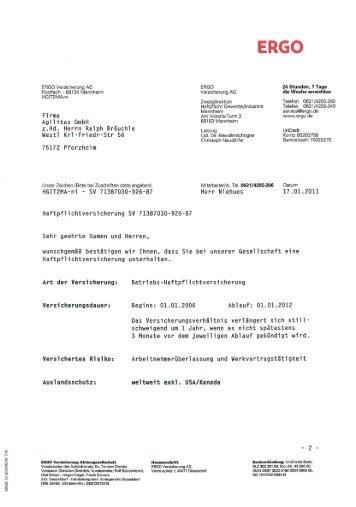 Vereinbarung Zum Arbeitsvertrag Ergo