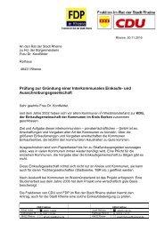 Prüfung zur Gründung einer Interkommunalen Einkaufs - CDU ...
