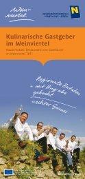 Kulinarische Gastgeber im Weinviertel