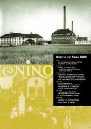 Historie der Firma NINO - NINO SEG