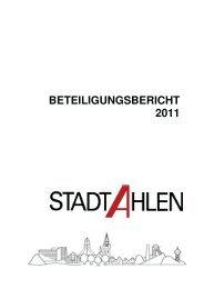 Beteiligungsbericht 2011 kom - der Stadt Ahlen