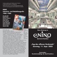 Flyer zum Tag des offenen Denkmals am 11.09 - NINO SEG