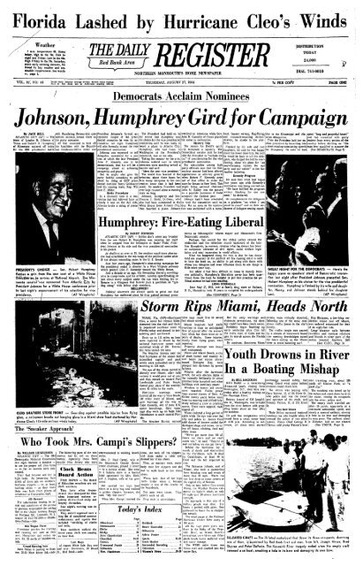 Johnson Humphrey Gird For Campaign Red Bank Register Archive