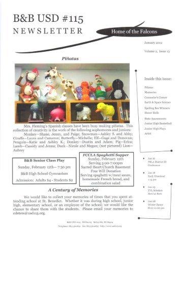 B&B USD #115 NEWSLETTER - Nemaha Central Schools