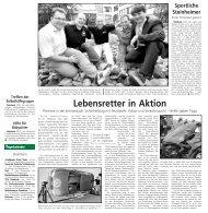 Lebensretter in Aktion ( u . a. Berichte) - Stadt Steinheim
