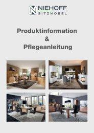 Produktinformation & Pflegeanleitung - Niehoff