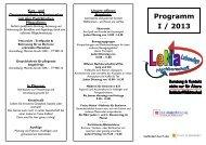 LeNa - Programm 1. Halbjahr 2013