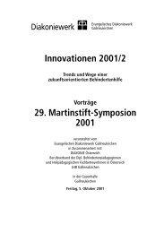 Innovationen 2001/2 29. Martinstift-Symposion 2001