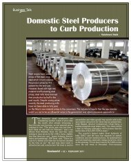 Domestic Steel Producers To Curb Production - Steelworld