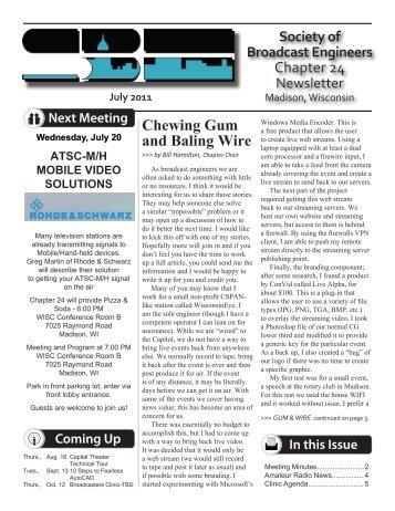 AARP Chapter 1917 Newsletter
