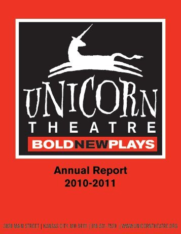 Unicorn Theatre 10-11 Annual Report