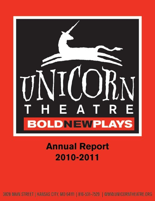 Unicorn Theatre 10-11 Annual Report