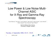 A Low Power and Low Noise Multi-Channel - Microelectronics - ESA