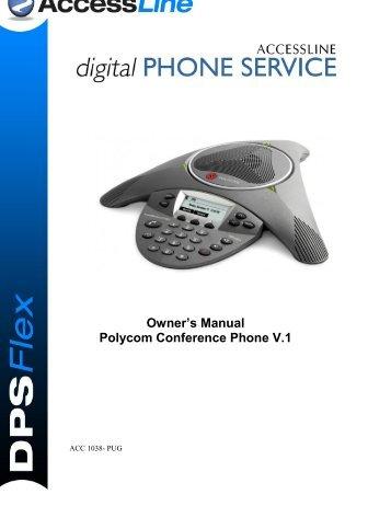 Owner's Manual Polycom Conference Phone V.1 - AccessLine ...