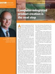 Computer-integrated product creation is the next step ... - SAE