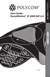 User Guide SoundStation® IP 4000 SIP 2.2 U S E R G U ID E - TIG