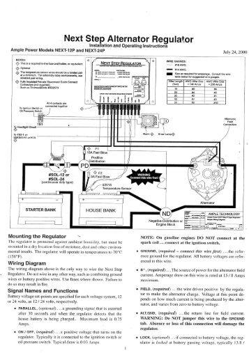. Next Step Alternator Regulator - Yanmar Marine Engine Help