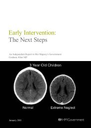 Early Intervention: The Next Steps - Department for Work and ...