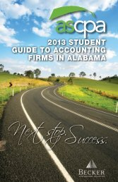 Next stop.Success. - Alabama Society of CPAs